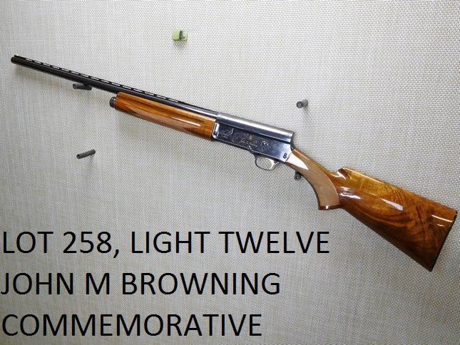 - COMES WITH A CASE, APPEARS TO BE UNFIRED, RAISED VENTED RIB, PEARL BEAD FRONT SIGHT, BELGIAN MADE GUN, GOLD INLAY ON THE RECEIVER, HIGH POLISHED SPECIAL GRADE WALNUT STOCKS THAT ARE FINELY CHECKERED , CONDITION: 10/10 , ACTION: SEMIAUTOMATIC SHOTGUN , BARREL LENGTH: 27 1/2