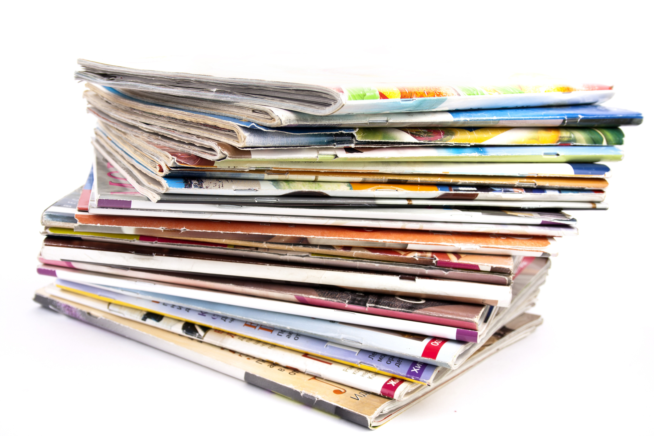 Use the slick paper feel as a guideline. NO mixed paper or books. Magazines and newspaper go in the same bin.