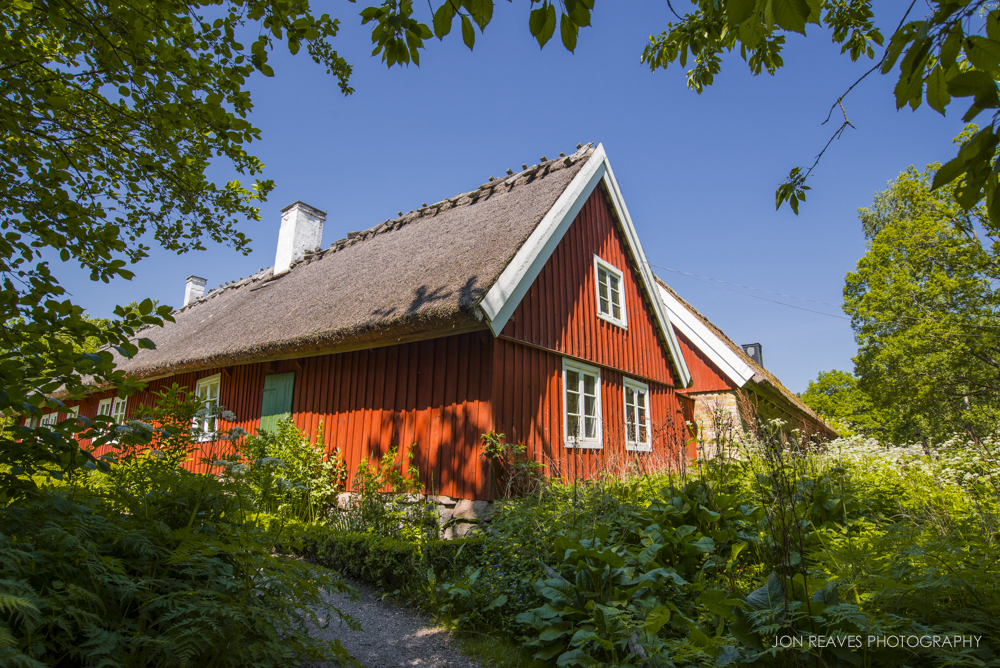 Traditional Swedish architecture in Skansen, Stockholm.