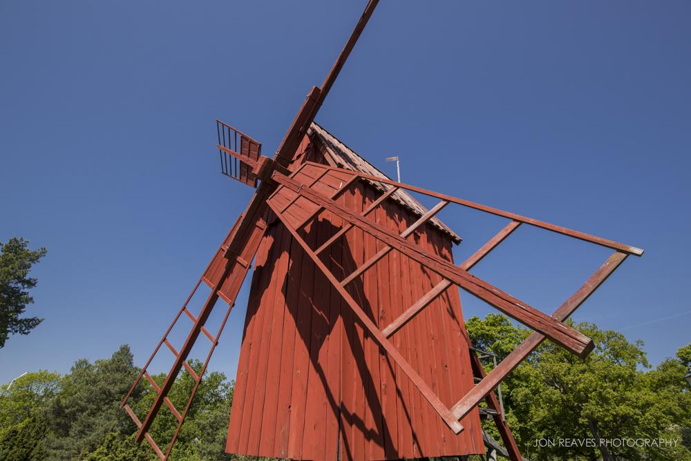Traditional Swedish windmill in Skansen, Stockholm.