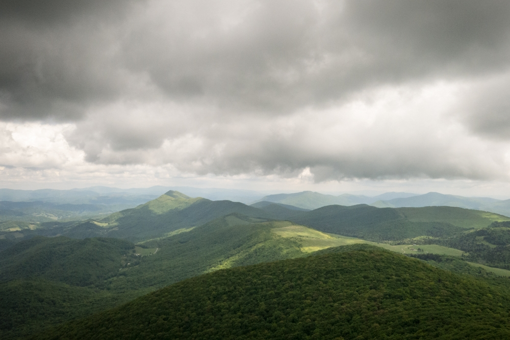 The north facing view from the Elk Knob summit trail.