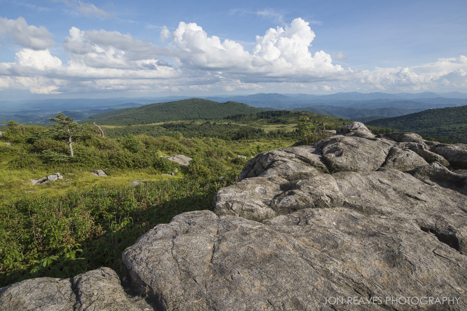 View of Grayson Highlands from the Appalachian Trail, Virginia.