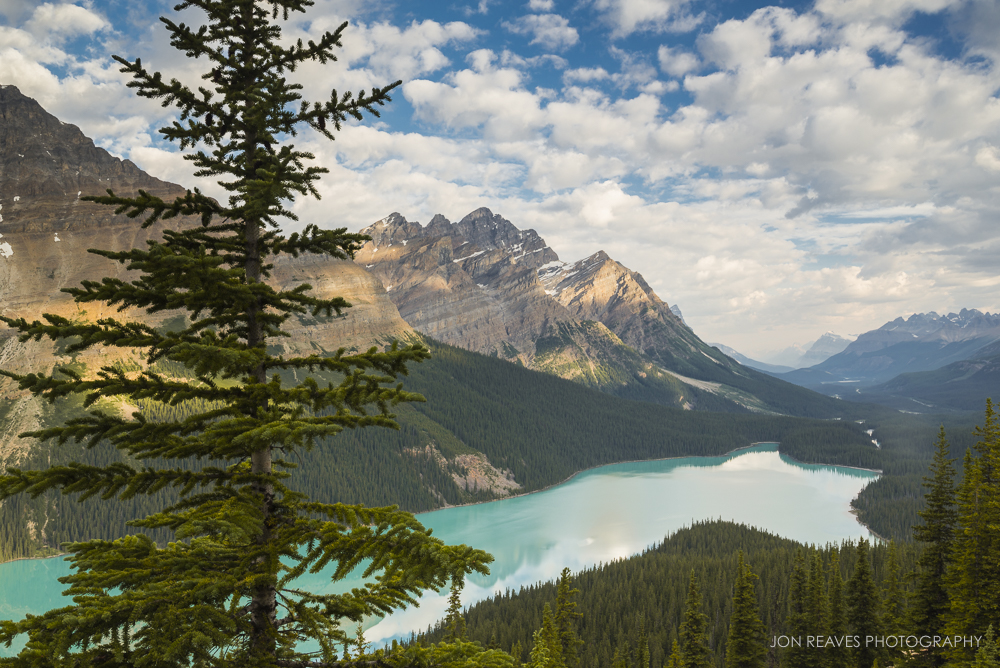 Peyto Lake, Banff National Park (Nikon D600, 18-35G : 29mm, ISO100, f13, 1/6 sec, tripod, polarizer, 3 stop grad. ND)