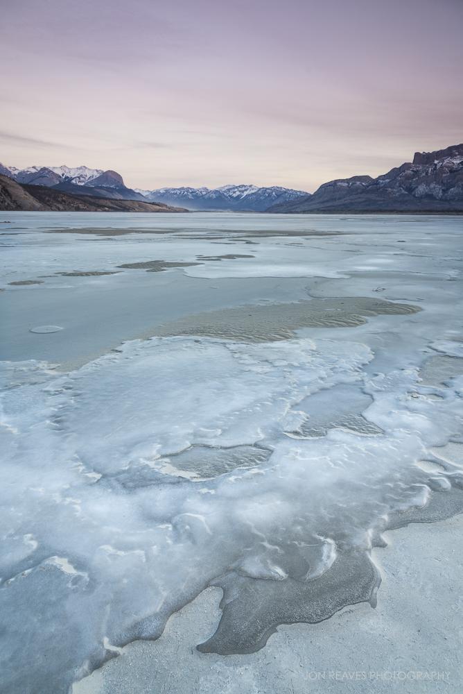 Frozen Jasper Lake, Jasper NP