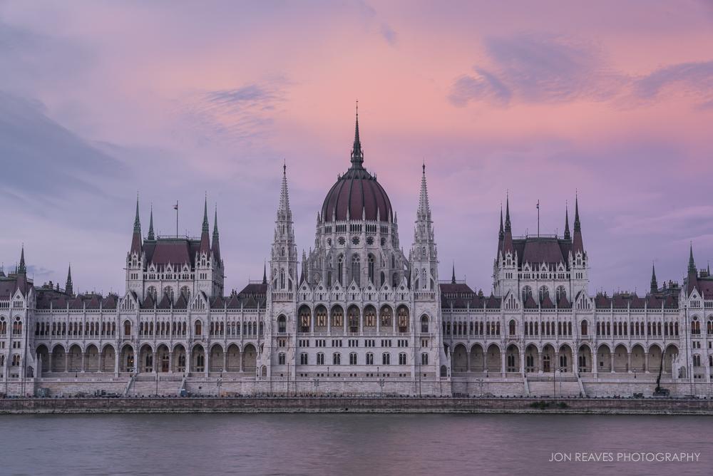 Hungarian Parliament at Sunset, Budapest, Hungary