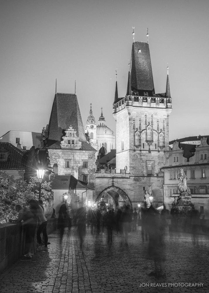 Night on the Charles Bridge, Mala Strana, Prague, Czech Republic