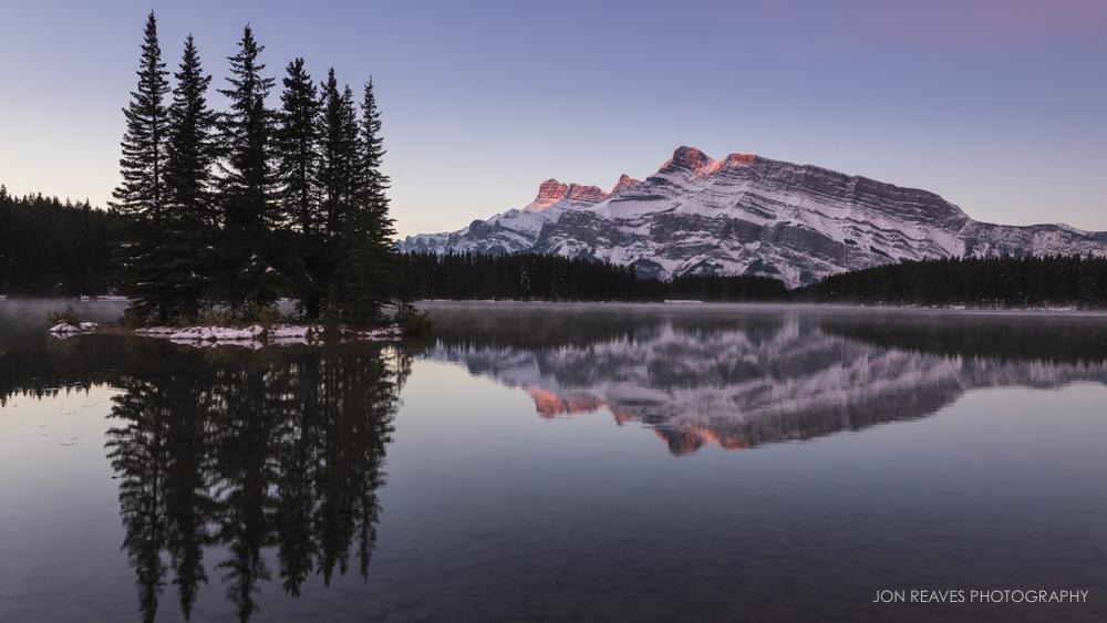 Two Jack Lake at Sunrise