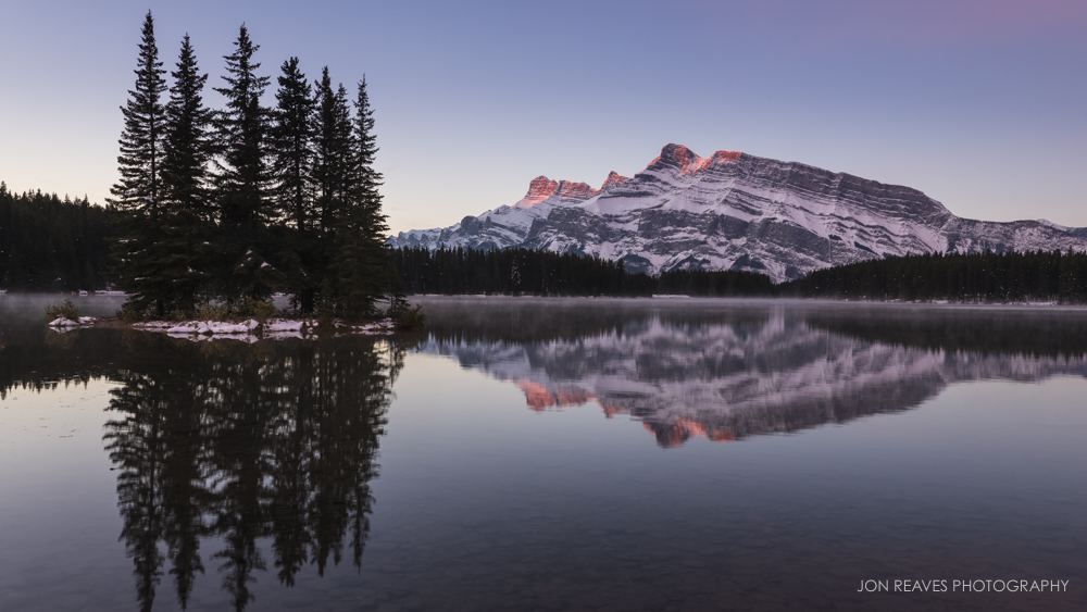 Two Jack Lake Sunrise, Banff national Park, Alberta, Fall 2018