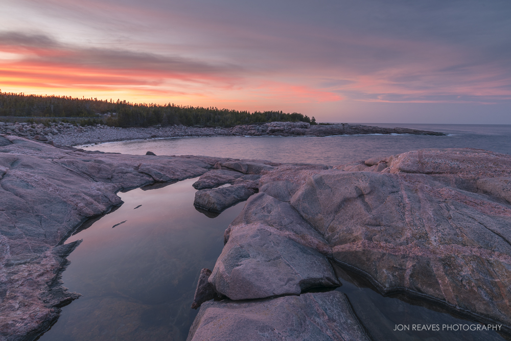 Tide Pools at Sunset, Lackies Head, Cape Breton, Nova Scotia