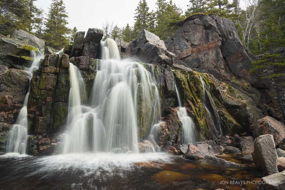 Waterfall at Black Brook Cove Beach, Cape Breton, Nova Scotia