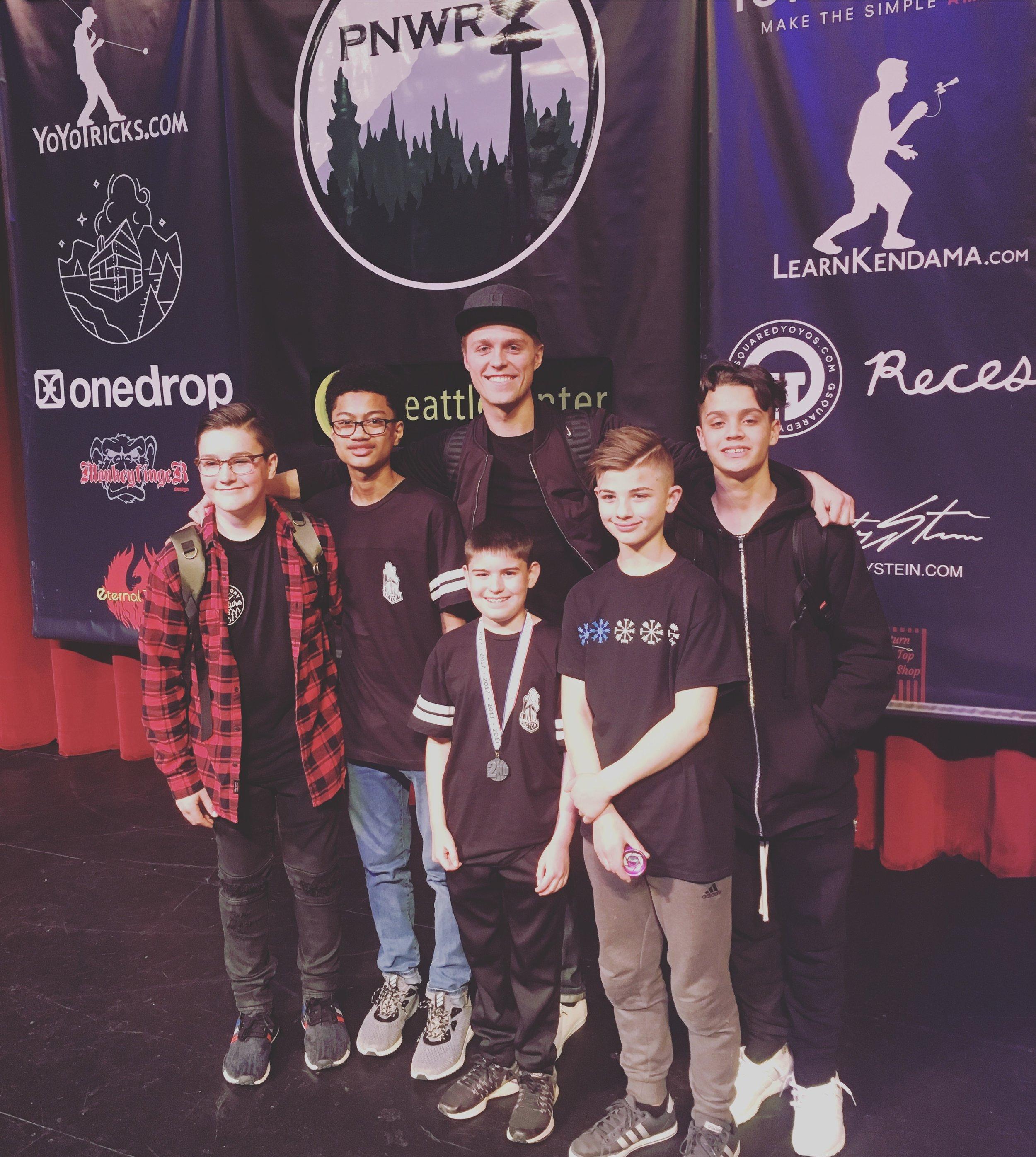 Left to right: Ryan Cvijanlvich, Angelo Aguirre, Hunter Feuerstein, Josiah Davis, Joey Montoya.