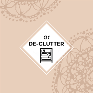 Including your closets and attics! Clutter blocks the flow of energy, which will keep you stuck in your life. -