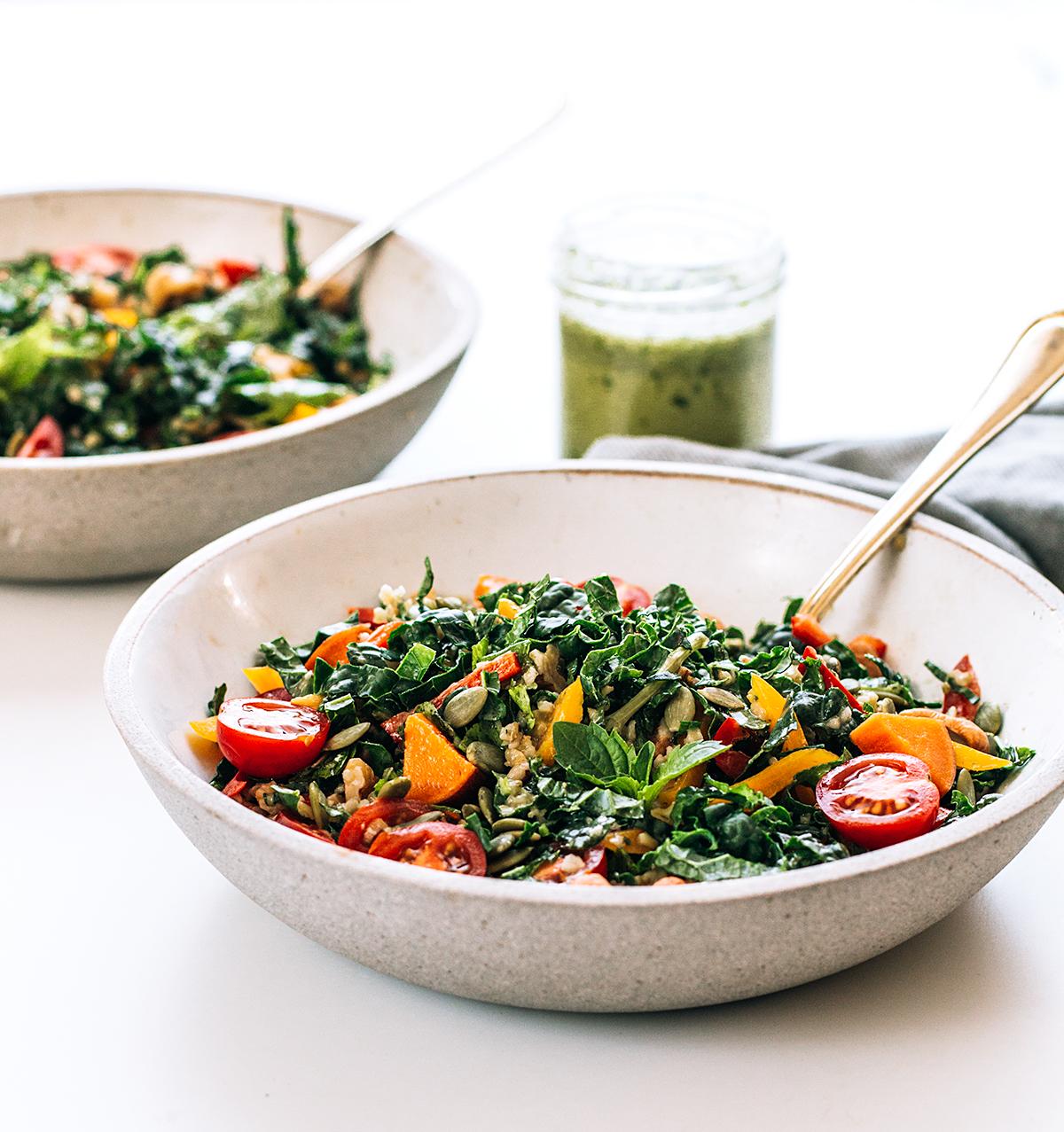 Freekeh Salad with Kale, Sweet Potato and Homemade Lime Cilantro Dressing.jpg