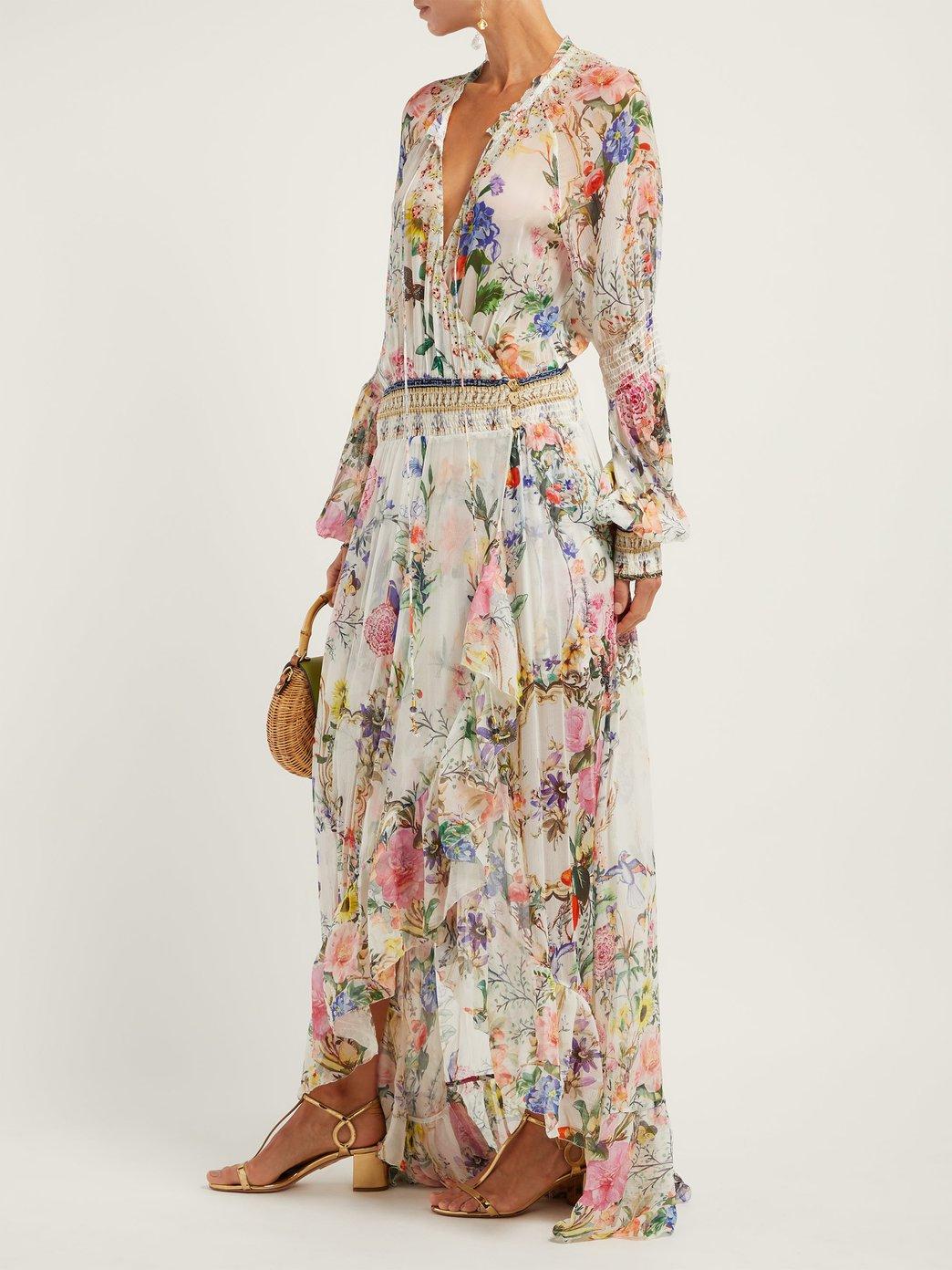 Camilla Boheme floral print wrap dress