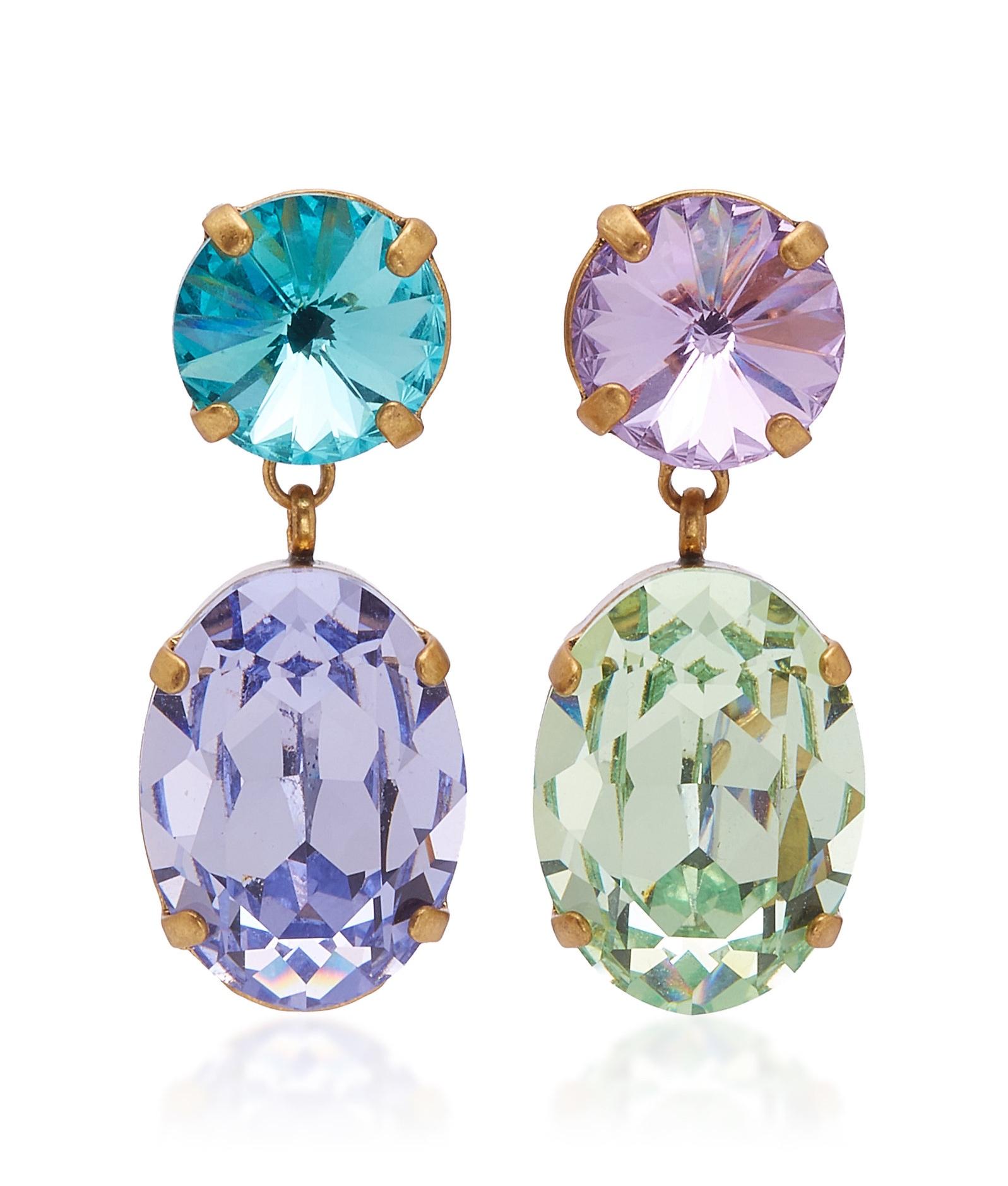 Roxanne Assoulin Hip Hop But Not Mini Crystal Earrings