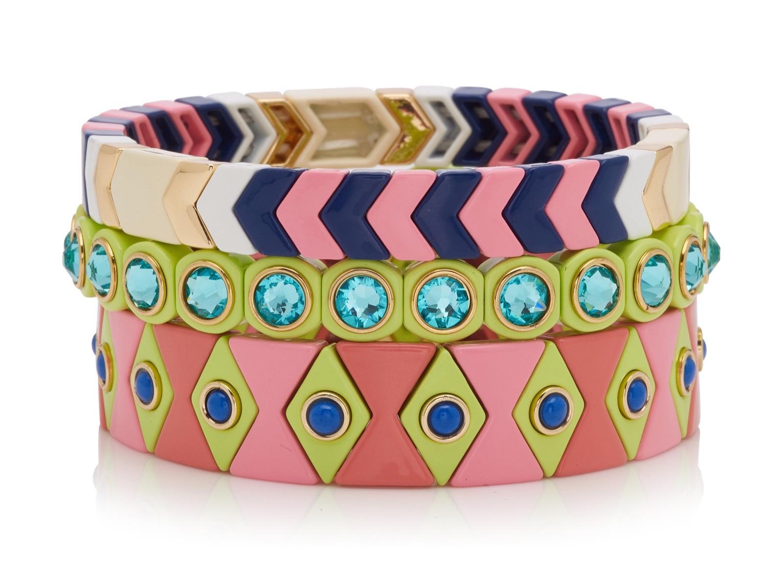 Roxanne Assouline, Palm Beach enamel bracelets