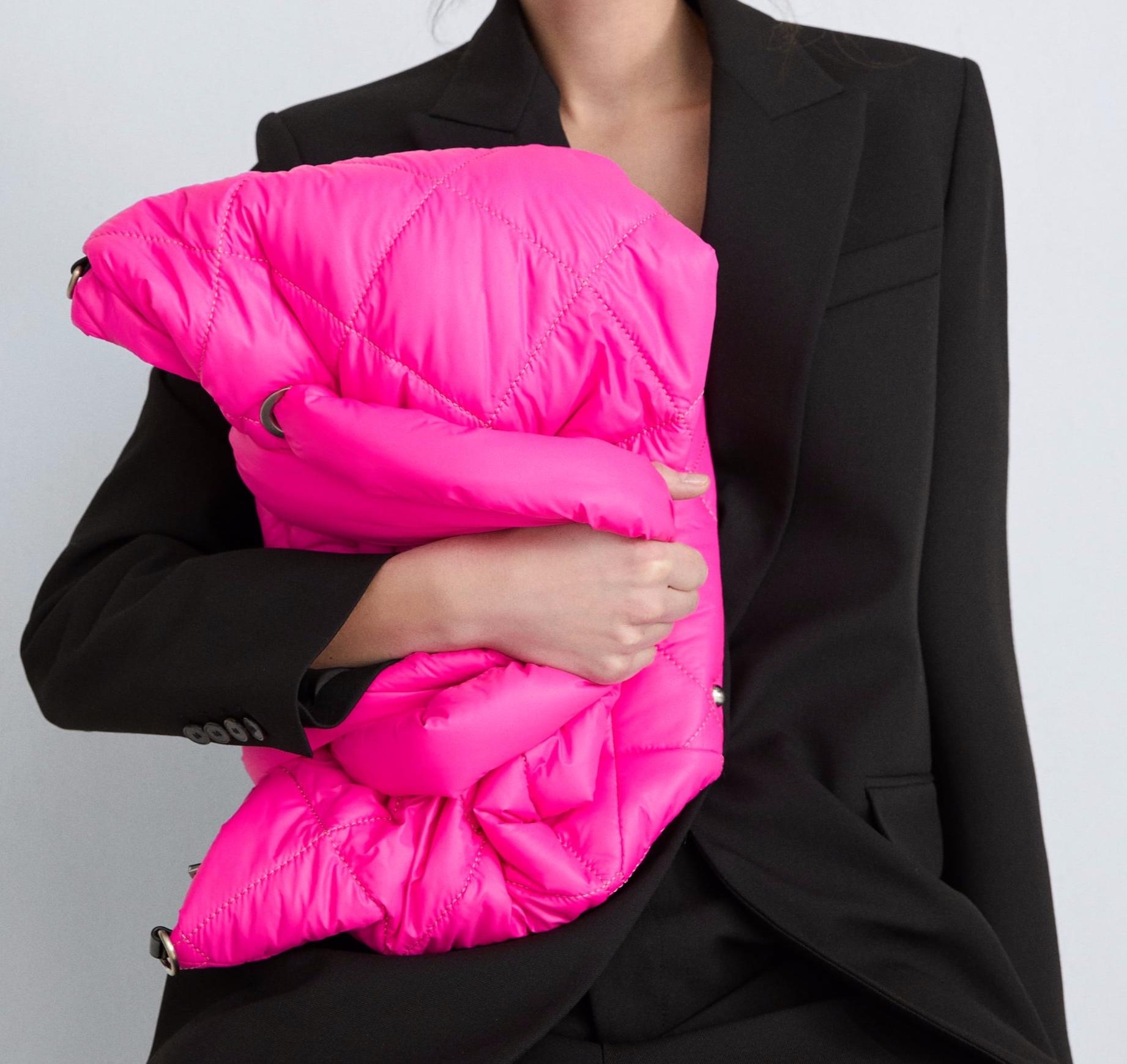 Zara padded shopper bag