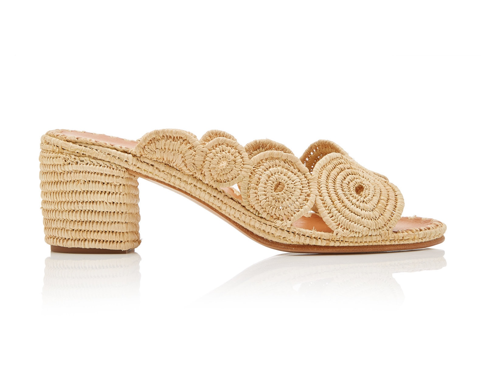 Carrie Forbes Ayoub raffia mules