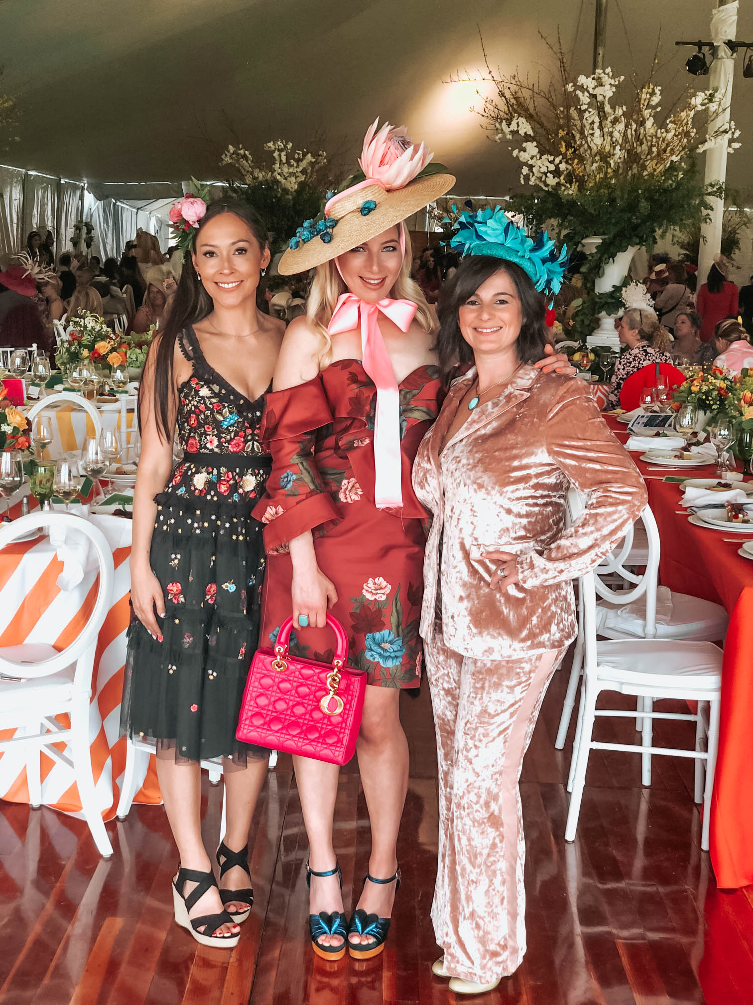 with friends Jessica Diaz and Marsha MacLean