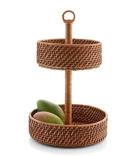 Crate & Barrel 2-tier fruit basket