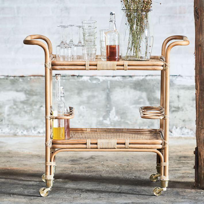 West Elm bar cart