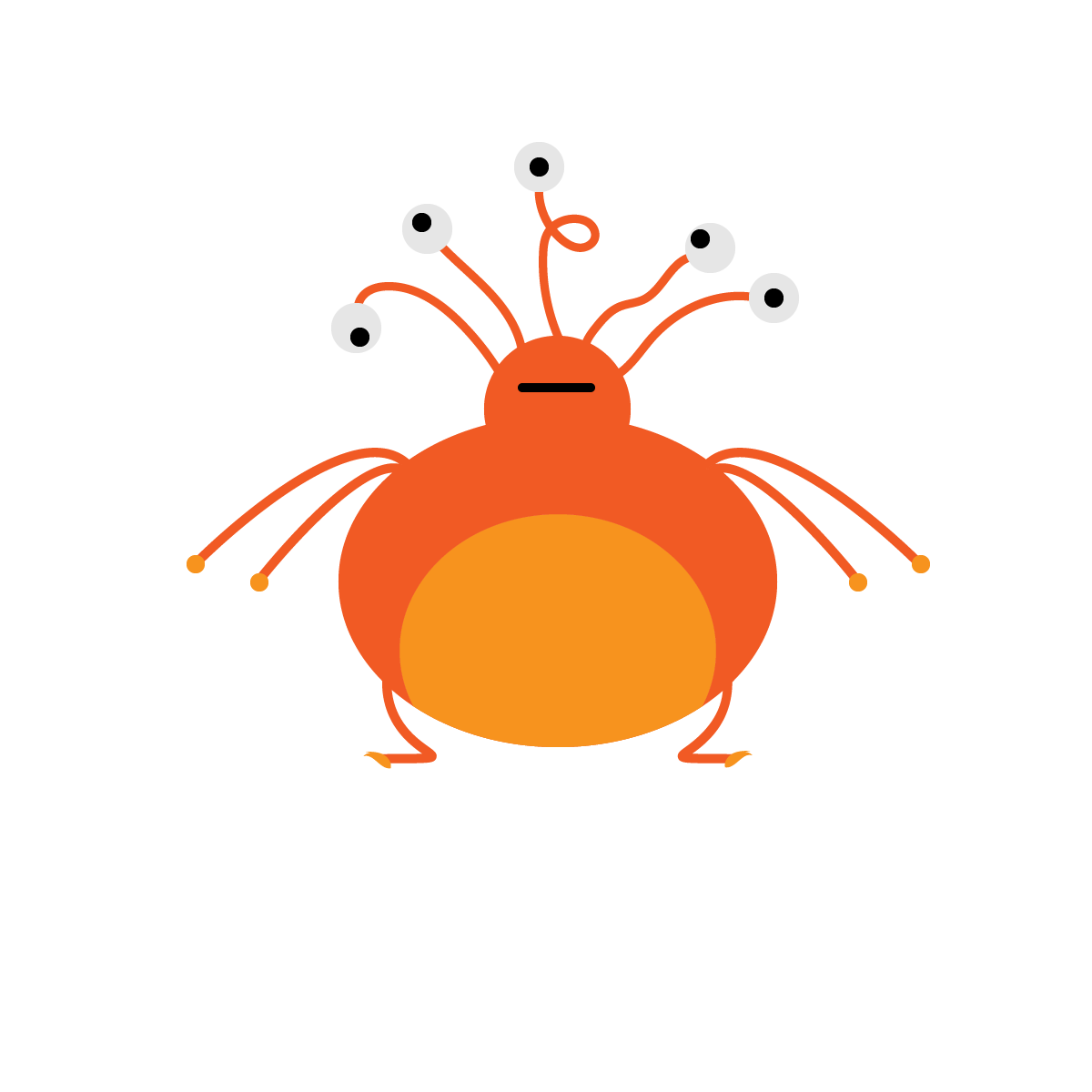 Alien #3 made with Illustrator