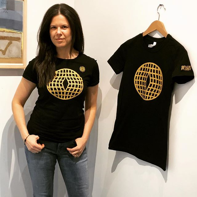 Space Pussy is in Greenpoint tonight. . . . #sexytshirt  #funnytshirt #uniquegifts #stylish #style #fashion #tshirt #feminine #newyorkartist#nycartist#brooklynartist #blackandgold #feminist #coolgift