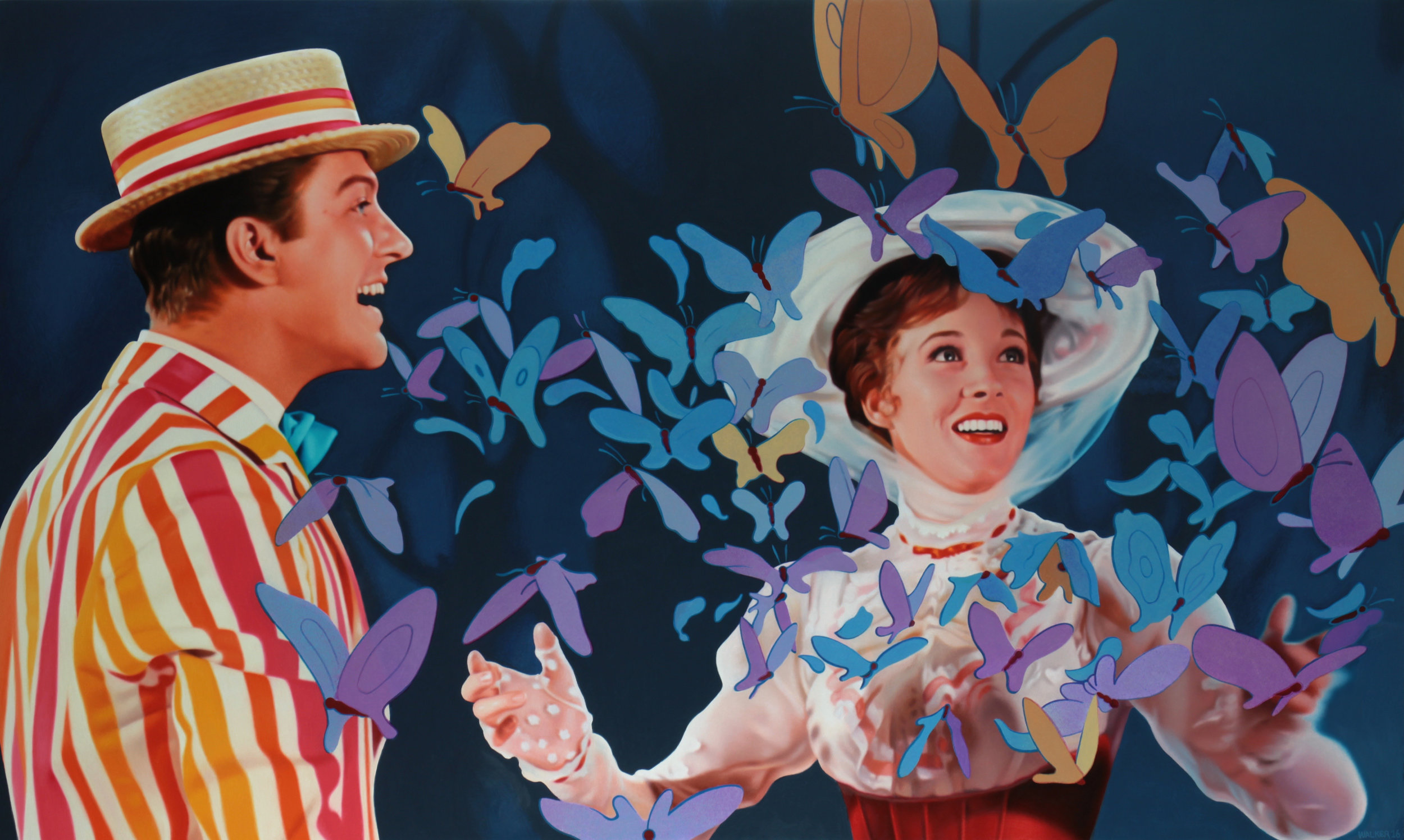 A Spoonful of Sugar.Oil on panel.