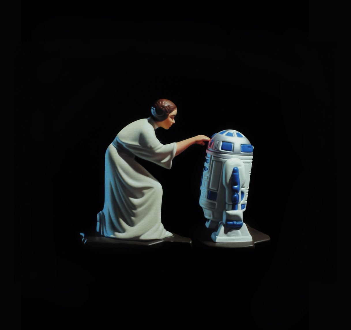 Princess Leia. Oil on panel.