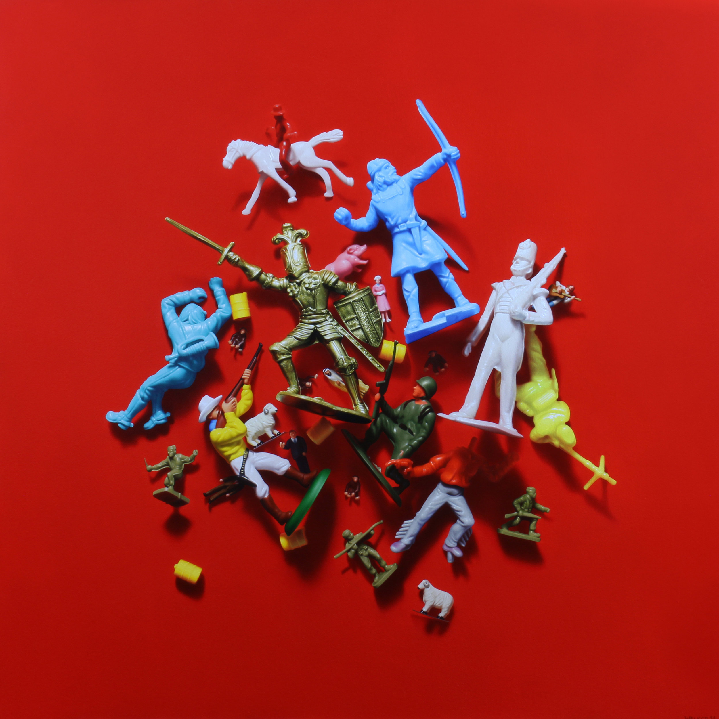 Toy Pile. Oil on canvas.