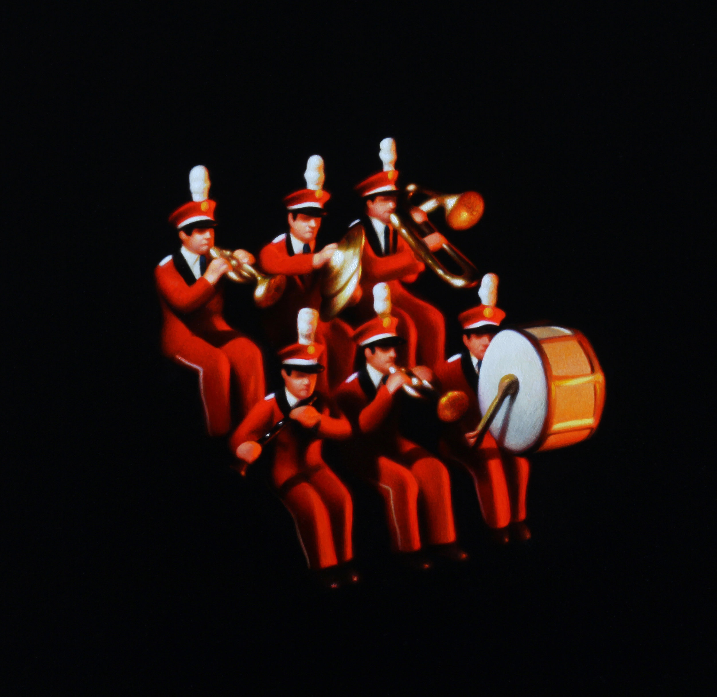 Red Band. Oil on Panel.