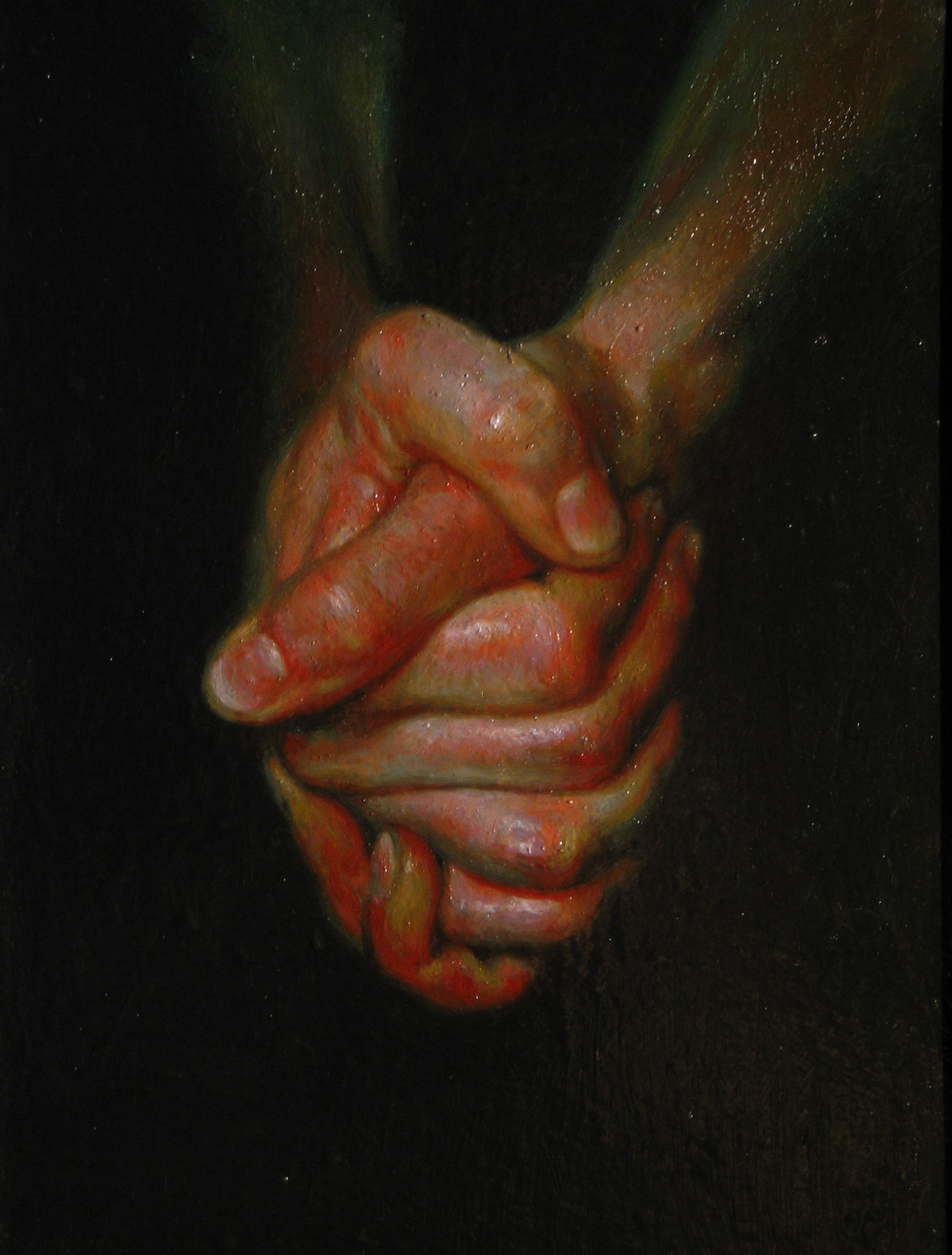 Hands. Oil on canvas.