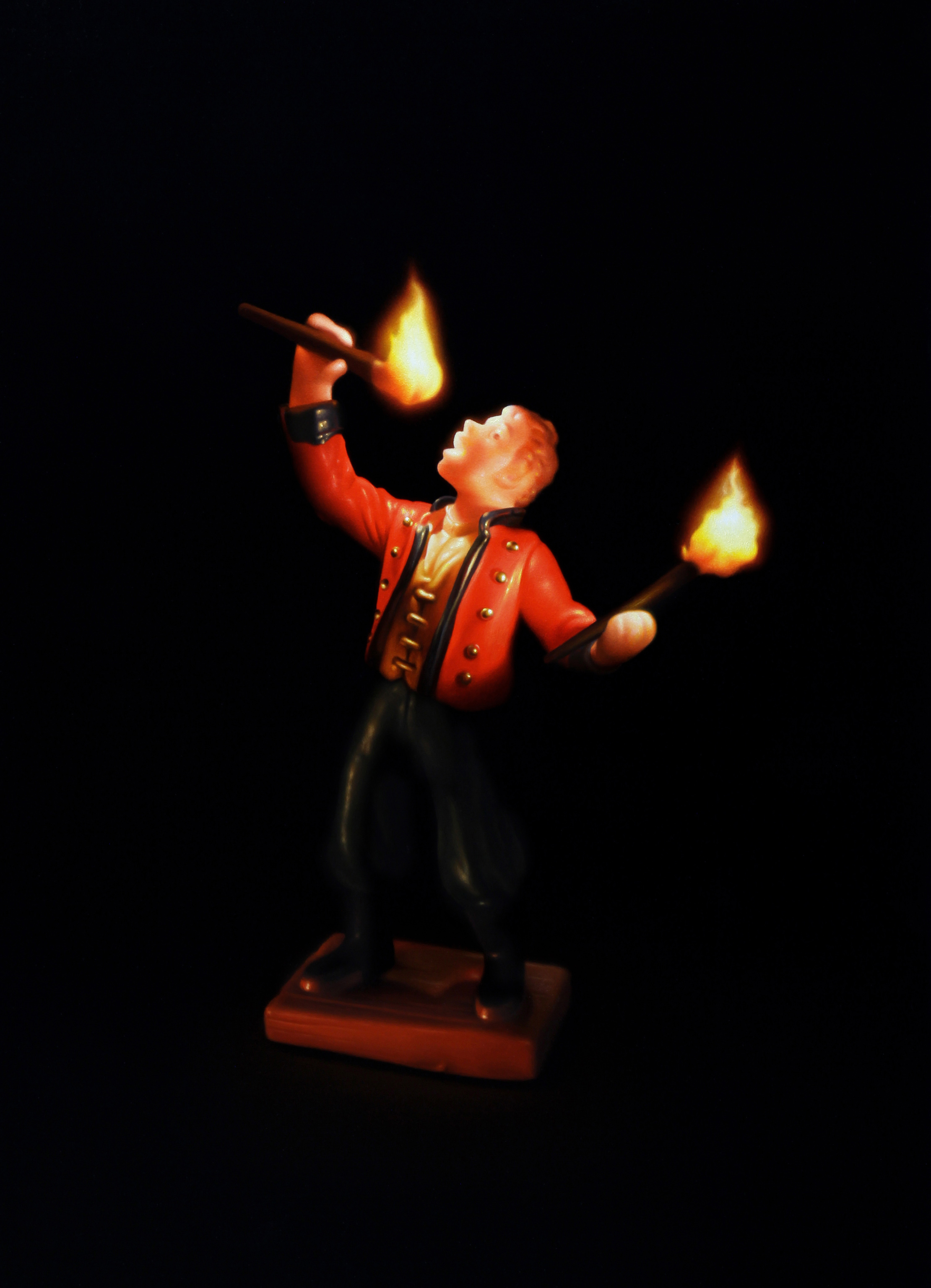 Fire Eater. Oil on panel.