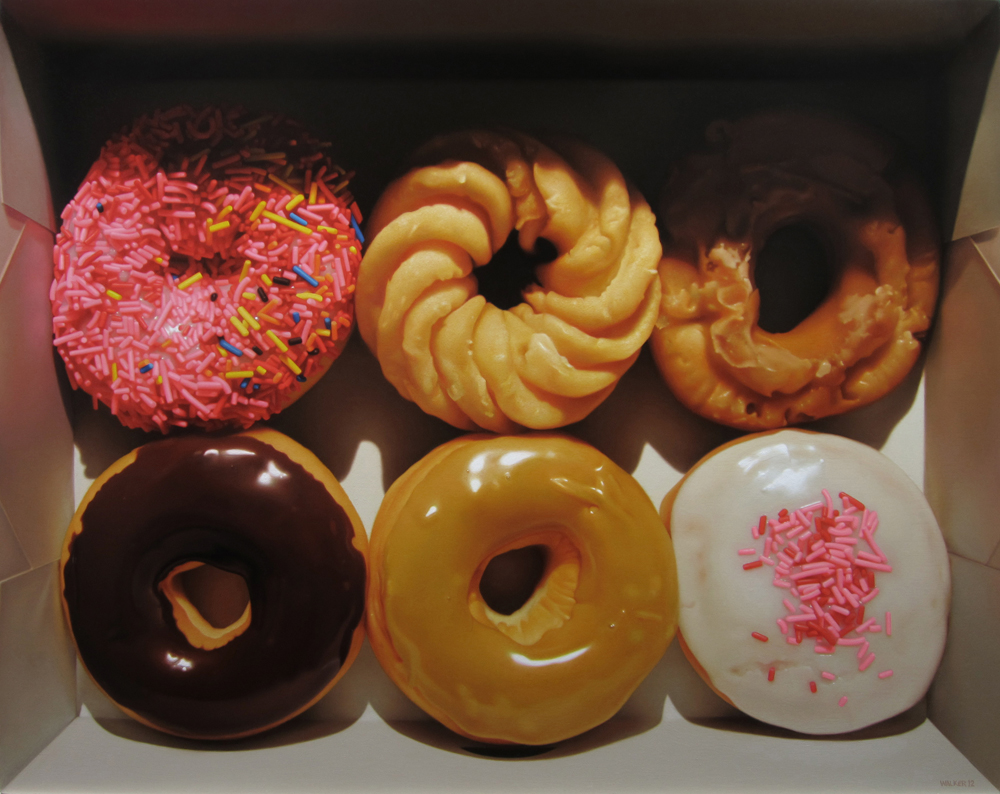 Donut Six Pack. Oil on Canvas.