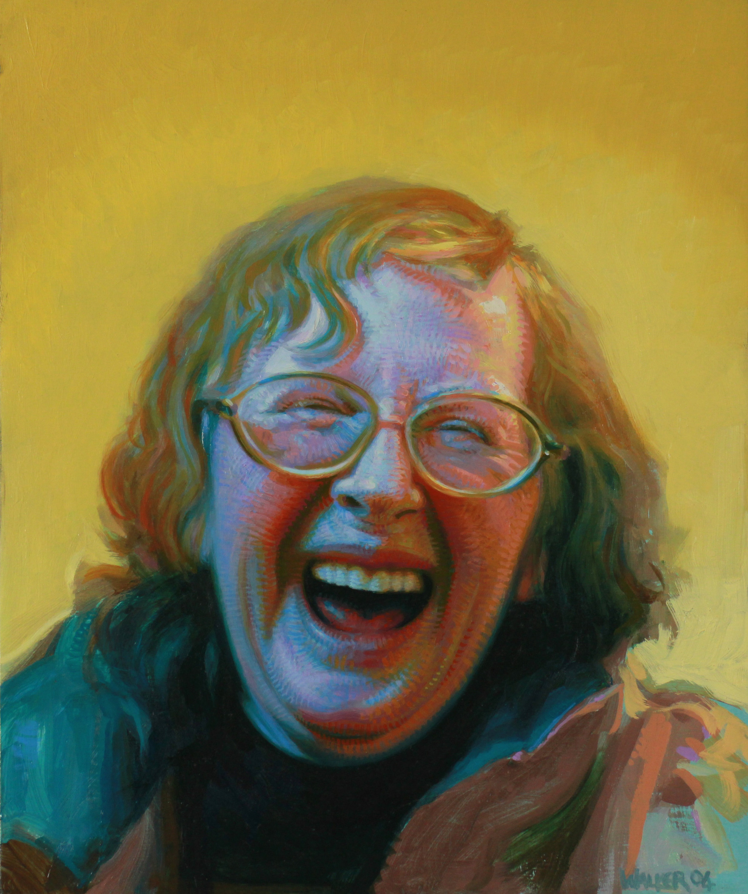 Laughing Woman. Oil on panel.