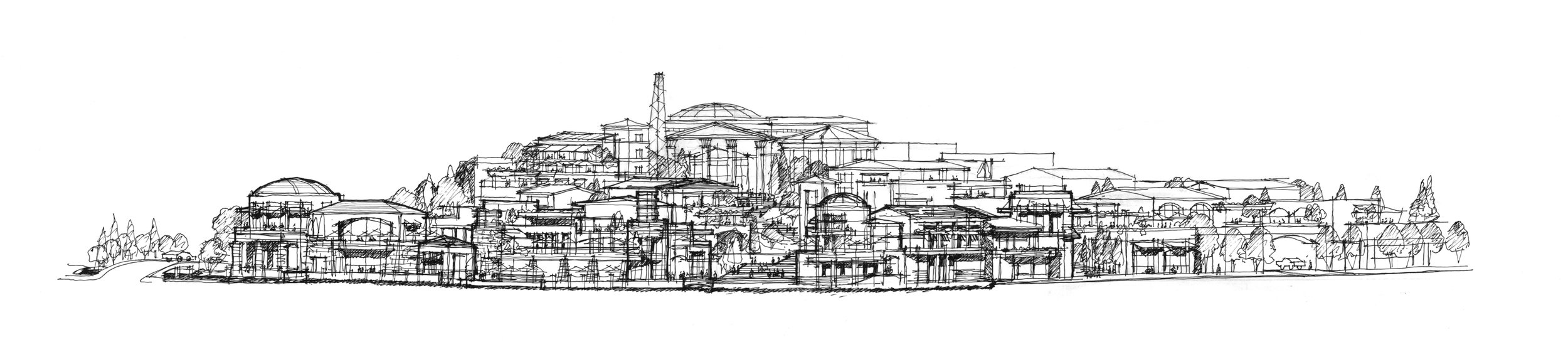 Architectural Sketch of Luxehills