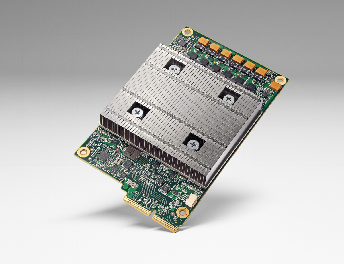 Google's TPU (https://blog.google/topics/google-cloud/)