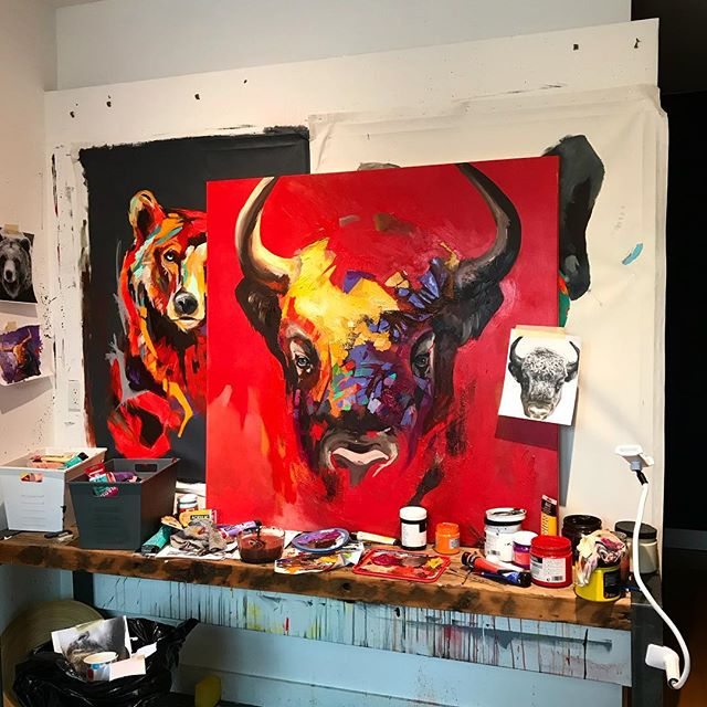 Buffalo work in progress 48x48  #artistsoninstagram #artist #art #arts #bear #animalpainting #montrealartist #montrealart #artcollector #art #painting #artfair #modernart #modernartist #contenporaryart #painting #artmontreal #acrylic #acrylicpainting #fineart #artofthedayartgalery #artbeautifulx #artwork #arte #amazingart #art🎨 #davelavoie#artwork
