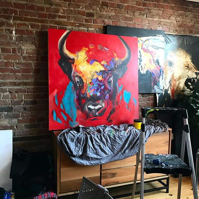 My workshop is a mess. Getting ready for my next 2 exhibitions. March and April More details next week.  #artistsoninstagram #artist #art #arts #bear #animalpainting #montrealartist #montrealart #artcollector #art #painting #artfair #modernart #modernartist #contenporaryart #painting #artmontreal #acrylic #acrylicpainting #fineart #artofthedayartgalery #artbeautifulx #artwork #arte #amazingart #art🎨 #davelavoie#artwork