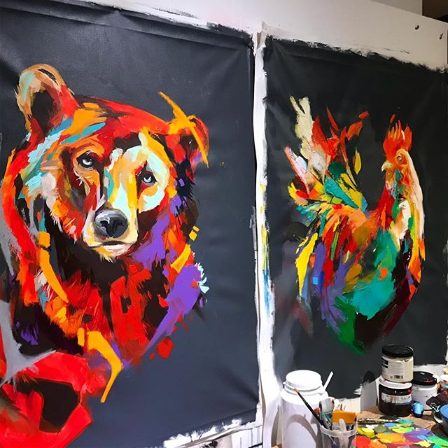 Finally my latest bear painting on a Grey background. 36x48  soon available #artistsoninstagram #artist #art #arts #bear #animalpainting #montrealartist #montrealart #artcollector #art #painting #artfair #modernart #modernartist #contenporaryart #painting #paint #acrylic #acrylicpainting #fineart #artofthedayartgalery #artagram #artwork #arte #amazingart #artsy #painter #art🎨 #davelavoie