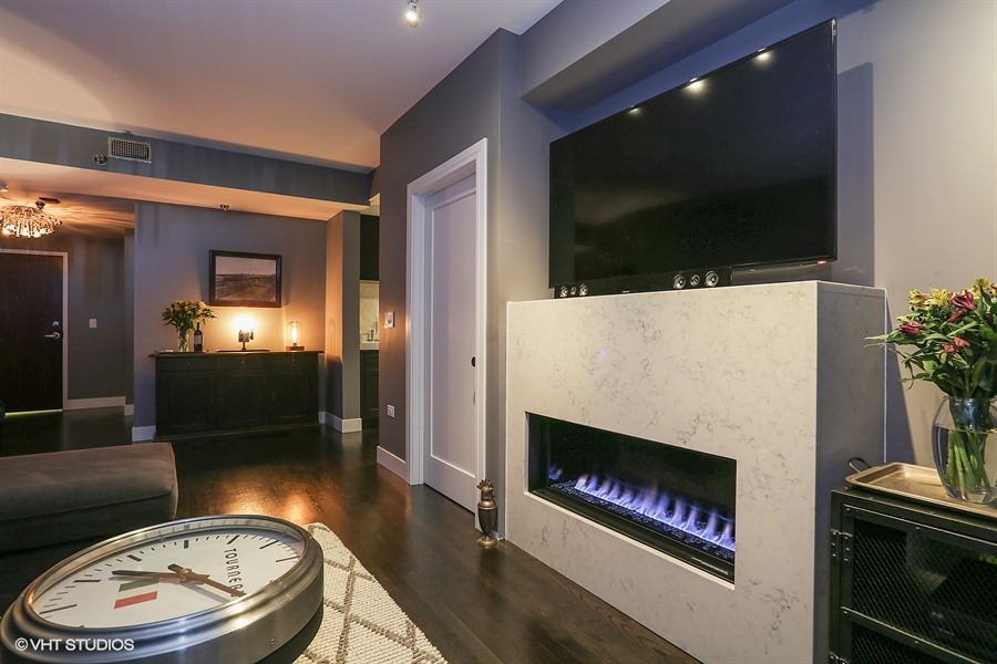 Sample of my work: I consulted on total gut rehab including paint colors, creation and installation of new fireplace, completely new kitchen and bath, as well as furniture selection.