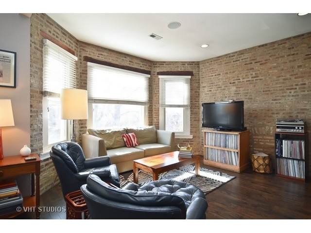 Exposed brick adds to the vintage charm