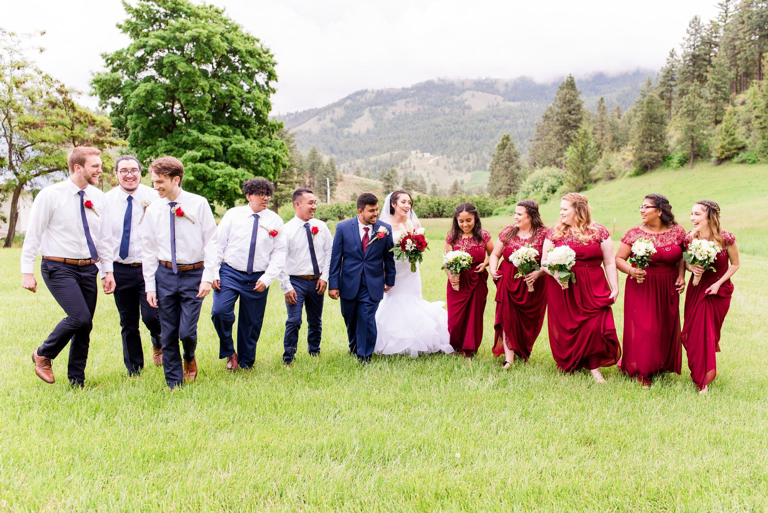 Bridal Party Photos - Wenatchee, WA Hampton Hideaway White Barn Wedding - Wenatchee, Washington Wedding Photographer - Morgan Tayler Photo & Design - Tri Cities, WA Wedding Photographer