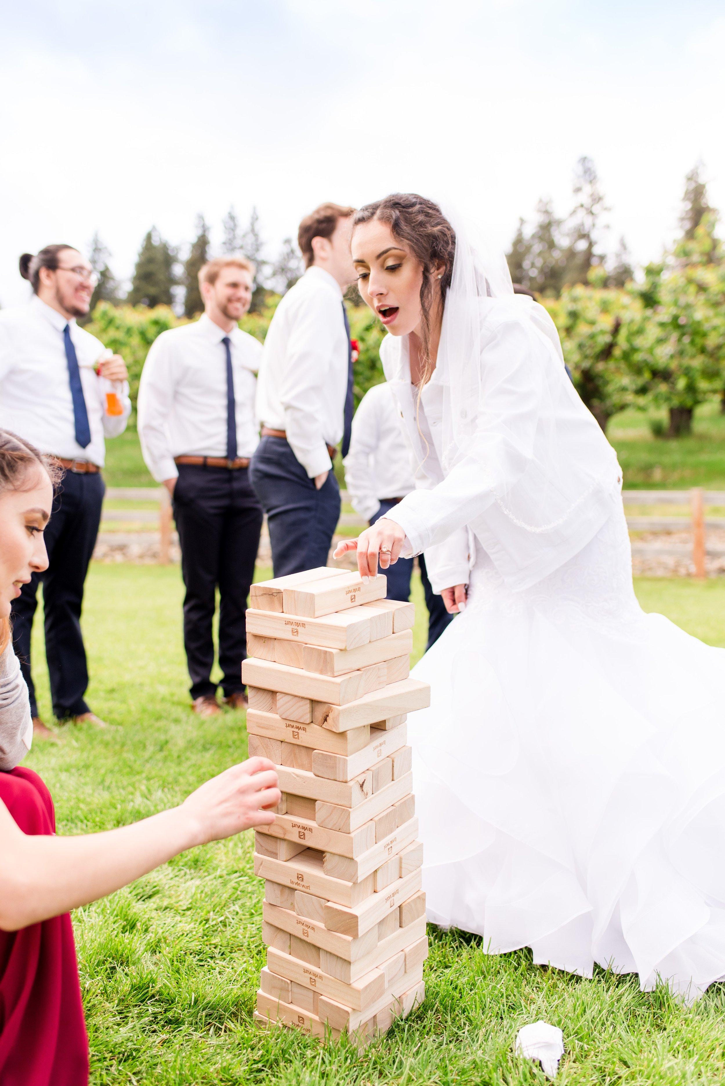 Wedding Lawn Games - Wenatchee, Washington White Barn Wedding - Hampton Hideaway - Morgan Tayler Photo & Design - Wenatchee Wedding Photographer