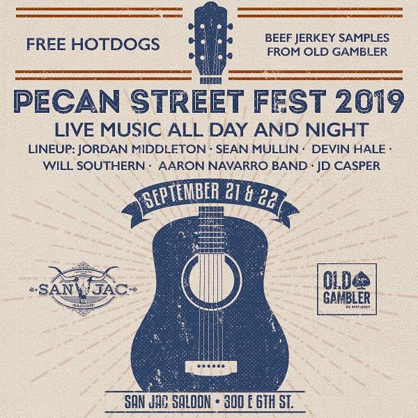 ‼️THIS WEEKEND‼️ Come on out to 6th St and enjoy Austin's Pecan Street Festival 2019! If you bring us some street corn 🌽 & turkey legs 🍗 we'll supply the music! See y'all there! • • •  #PecanStFest #oldpecanst #Austinfestivals #twentynineteen #localvendors #streetcorn #turkeylegs #supportlocalvendors #livemusic #musicofatx #Texascountrymusic #JacksUpstairs #SanJacSaloon