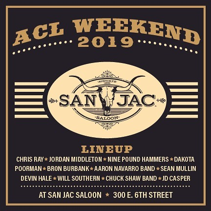 🚨🎤 ACL WEEKEND 🎤🚨 Join us this weekend and next weekend for some awesome Texas Country Music at San Jac Saloon! . • • #ACLWeekend #ACL #Texascountrymusic #ACLmusic #music #livemusic #lineup #countrymusic #musicvenue #venuesofatx #atx #Austin #Austinlivemusic #JacksUpstairs #SanJacSaloon