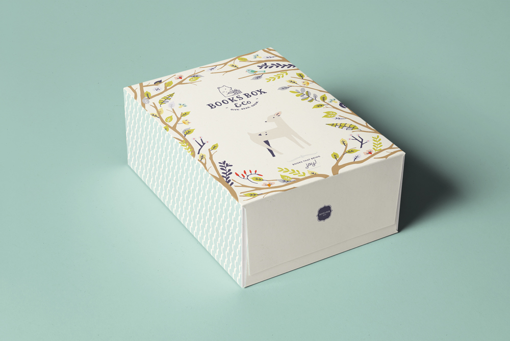 Books Box & Co - Books Box & Co is a service that delivers award winning children picture books in a personalised gift box. We designed their logo, branding story, E-commerce website and the gift boxes.