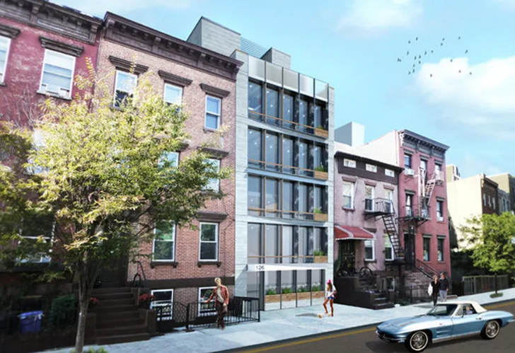 Three New Multi-Floor Apartments Coming to South 2nd Street - A new six-story, three-apartment building will soon rise on South 2nd Street between Berry Street and Bedford Avenue. The building at 126 South 2nd Street is being developed by an anonymous LLC and designed by Melamed Architect,who elaborates on the structure: the building will have one triplex apartment and two duplex apartments.