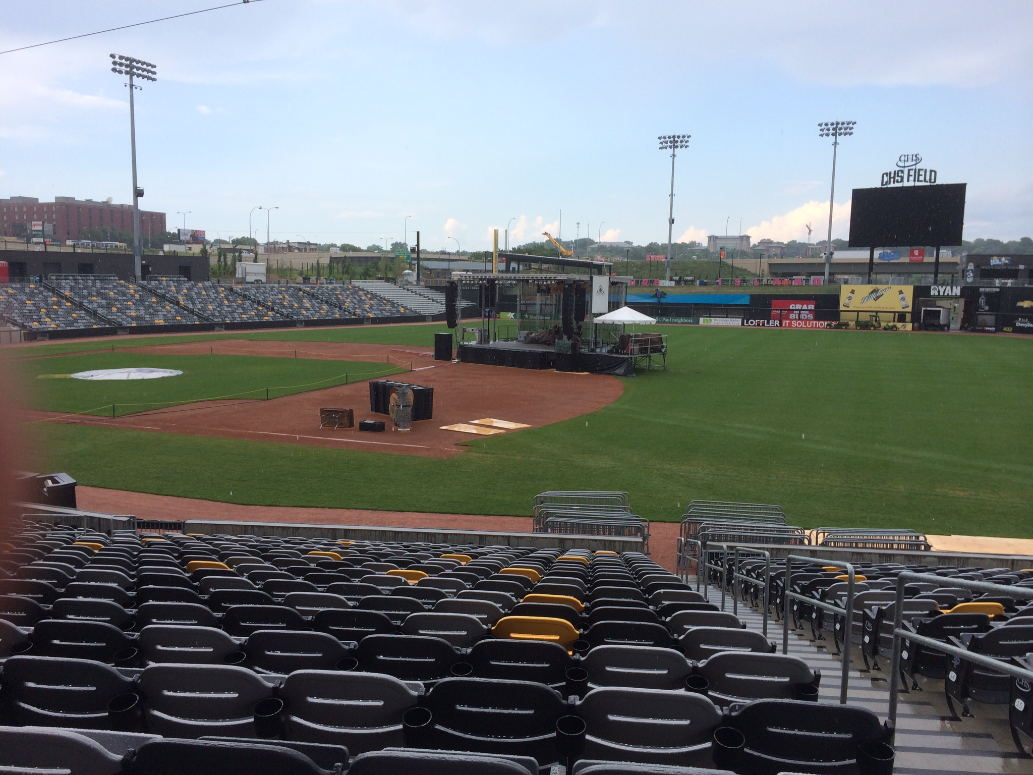 Ready for the show - Twin Cities Jazz Fest at CHS Field