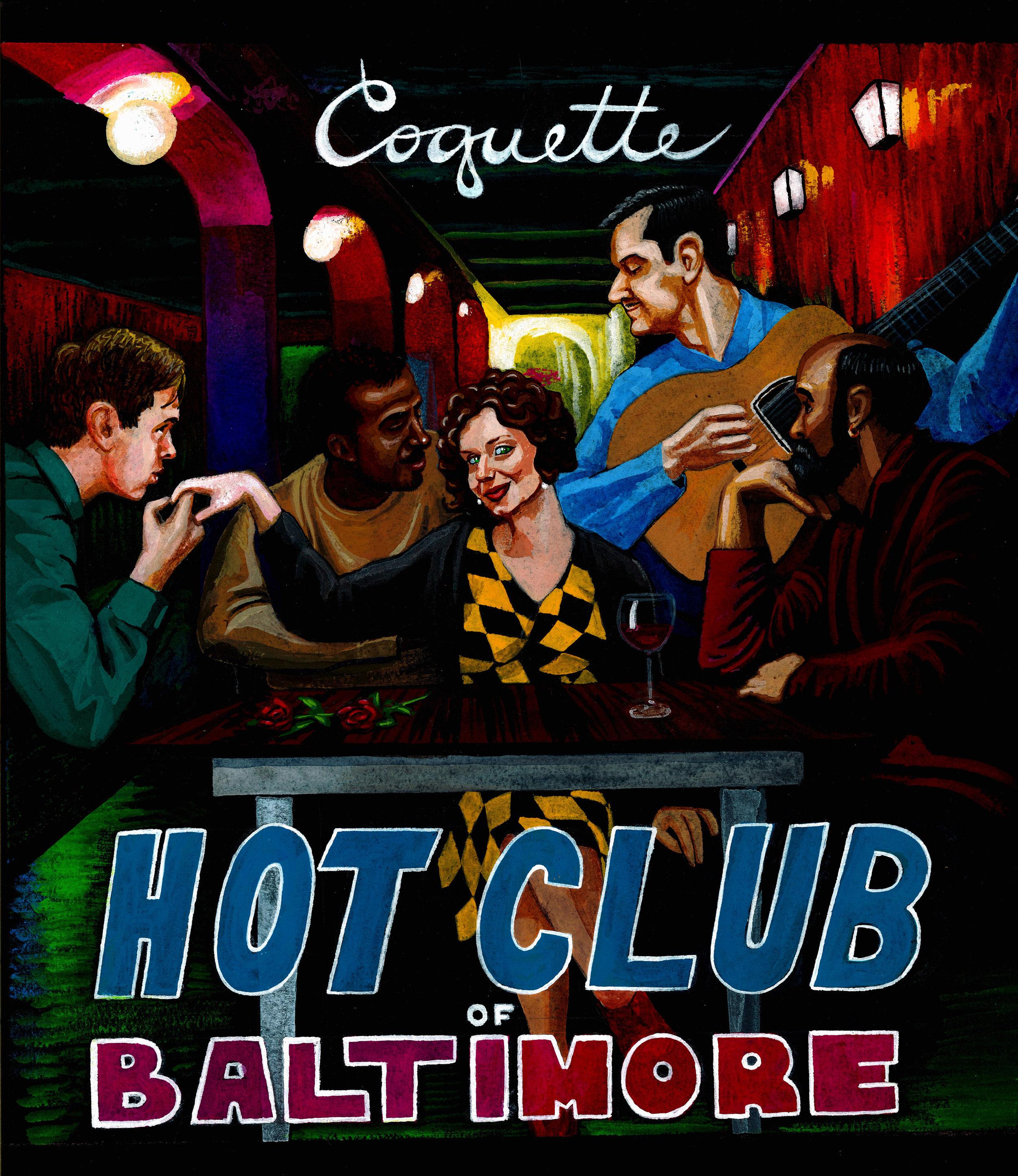 """""""Coquette"""" Hot Club of Baltimore Album Cover"""